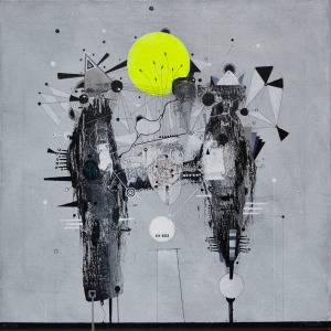 no title on canvas 40x40cm