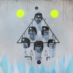 """9"" mixed media on canvas70x70cm"