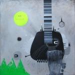 """""""c"""" mixedmedia on canvas40x40cm"""