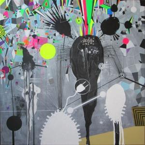 mixed media on canvas 70x70cm