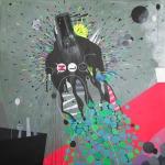 Mixed media on canvas 70x70cm2013
