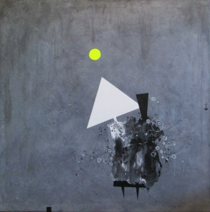 mixed media on canvas 70x70cm 2012