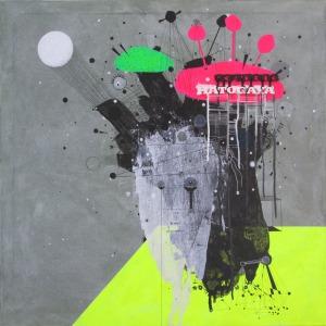 mixed media on canvas 70x70cm 2014